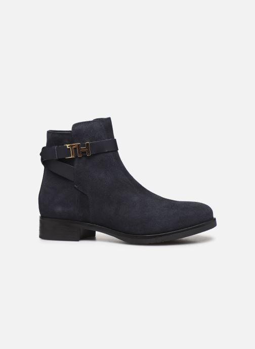 Boots en enkellaarsjes Tommy Hilfiger TH HARDWARE FLAT BOOTIE Blauw achterkant