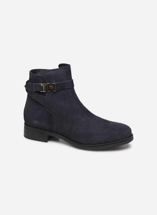 Boots en enkellaarsjes Tommy Hilfiger TH HARDWARE FLAT BOOTIE Blauw detail
