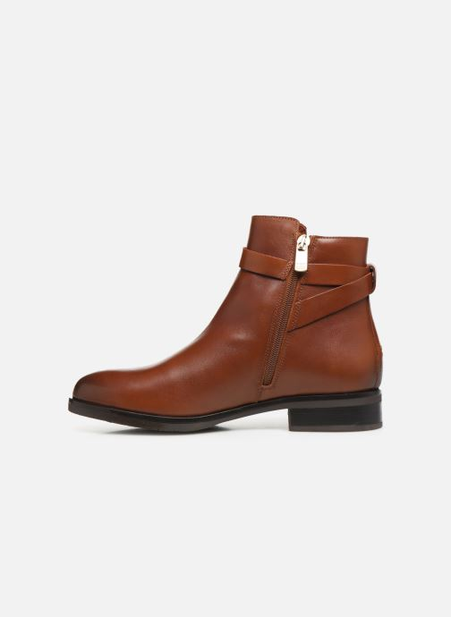 Bottines et boots Tommy Hilfiger TH HARDWARE LEATHER FLAT BOOTIE Marron vue face