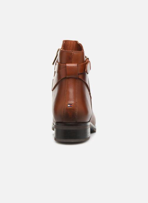 Bottines et boots Tommy Hilfiger TH HARDWARE LEATHER FLAT BOOTIE Marron vue droite