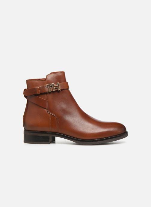 Bottines et boots Tommy Hilfiger TH HARDWARE LEATHER FLAT BOOTIE Marron vue derrière