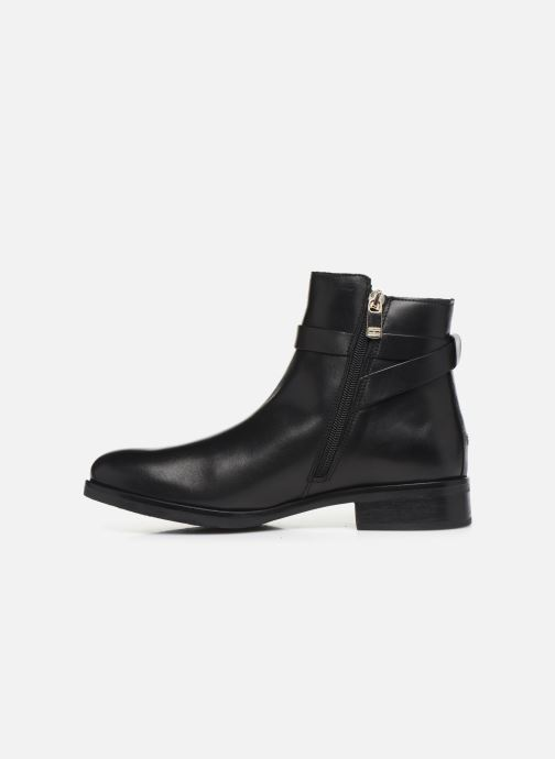 Bottines et boots Tommy Hilfiger TH HARDWARE LEATHER FLAT BOOTIE Noir vue face