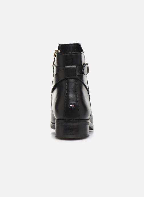 Bottines et boots Tommy Hilfiger TH HARDWARE LEATHER FLAT BOOTIE Noir vue droite