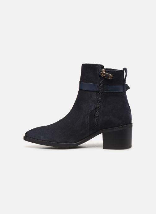 Boots en enkellaarsjes Tommy Hilfiger TH HARDWARE SUEDE BOOTIE Blauw voorkant