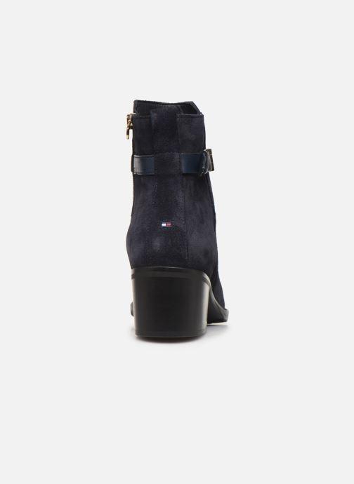 Boots en enkellaarsjes Tommy Hilfiger TH HARDWARE SUEDE BOOTIE Blauw rechts