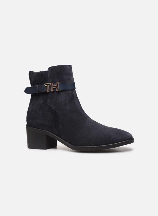 Boots en enkellaarsjes Tommy Hilfiger TH HARDWARE SUEDE BOOTIE Blauw achterkant