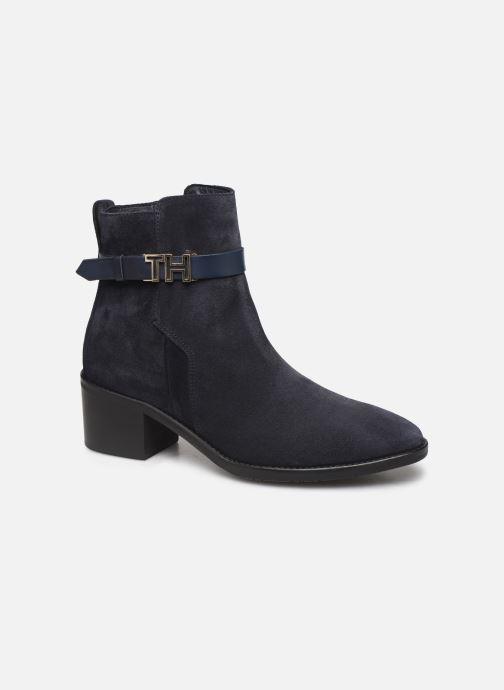 Boots en enkellaarsjes Tommy Hilfiger TH HARDWARE SUEDE BOOTIE Blauw detail