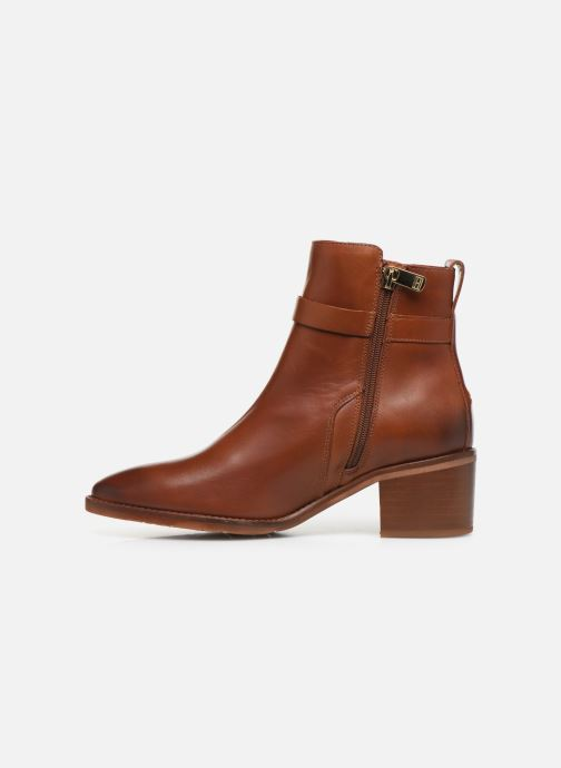 Ankelstøvler Tommy Hilfiger TH HARDWARE LEATHER MID BOOTIE Brun se forfra