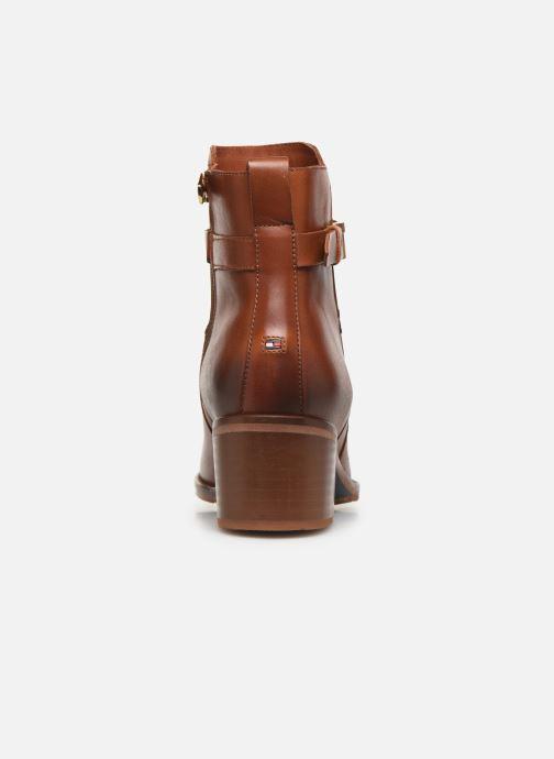 Boots en enkellaarsjes Tommy Hilfiger TH HARDWARE LEATHER MID BOOTIE Bruin rechts