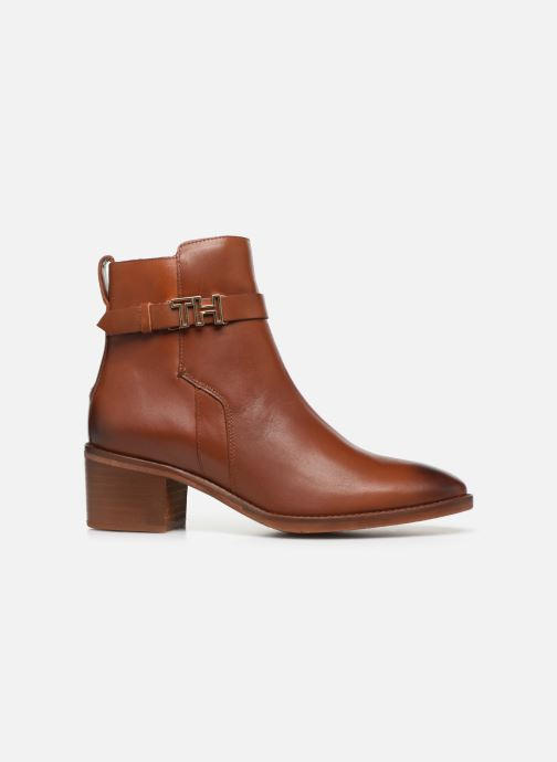 Boots en enkellaarsjes Tommy Hilfiger TH HARDWARE LEATHER MID BOOTIE Bruin achterkant