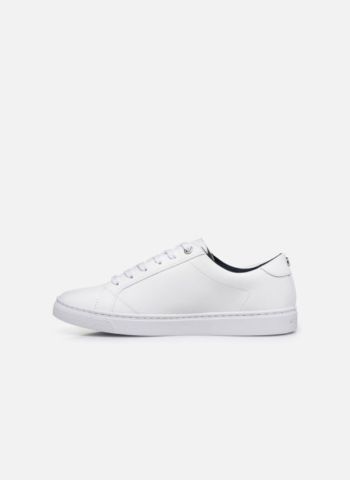 Baskets Tommy Hilfiger CRYSTAL LEATHER CASUAL SNEAKER Blanc vue face