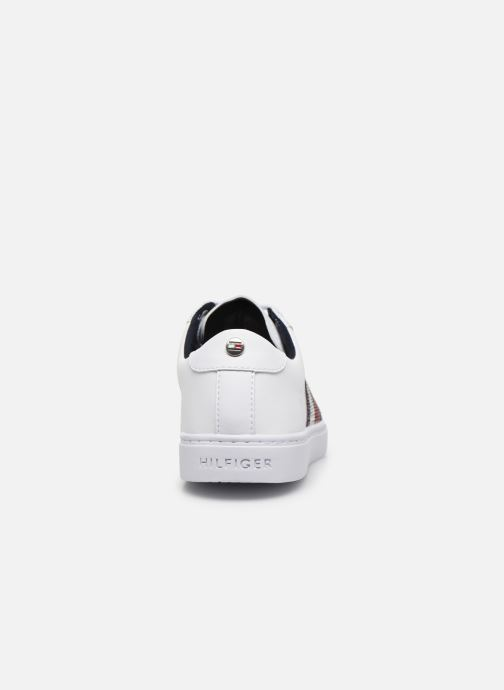 Baskets Tommy Hilfiger CRYSTAL LEATHER CASUAL SNEAKER Blanc vue droite