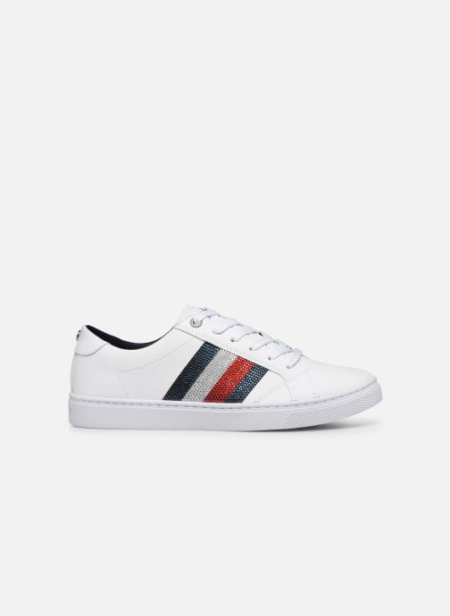 Baskets Tommy Hilfiger CRYSTAL LEATHER CASUAL SNEAKER Blanc vue derrière