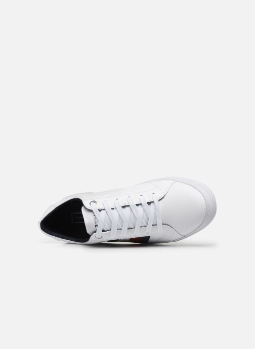 Baskets Tommy Hilfiger CRYSTAL LEATHER CASUAL SNEAKER Blanc vue gauche