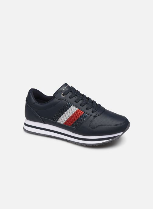 Trainers Tommy Hilfiger TOMMY RETRO CRYSTAL SNEAKER Blue detailed view/ Pair view