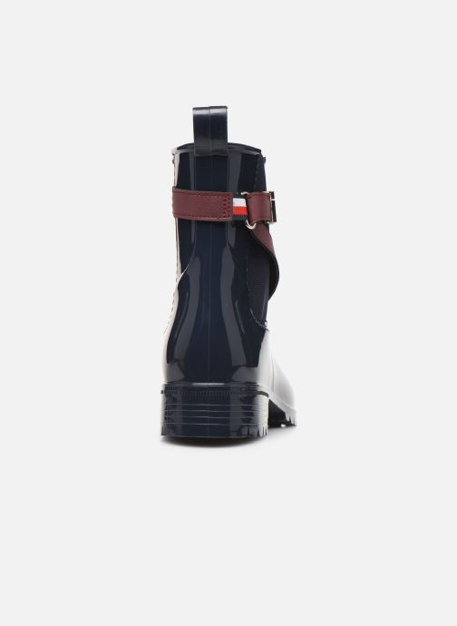 Bottines et boots Tommy Hilfiger TH HARDWARE RUBBER BOOTIE Bleu vue droite
