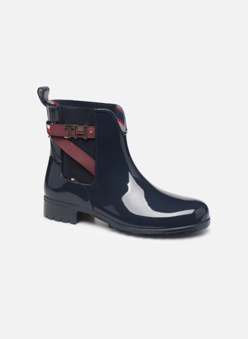 Bottines et boots Tommy Hilfiger TH HARDWARE RUBBER BOOTIE Bleu vue détail/paire