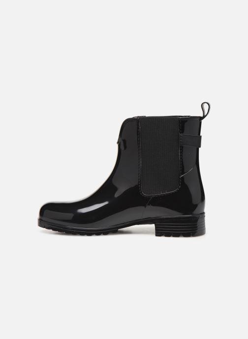 Boots en enkellaarsjes Tommy Hilfiger TH HARDWARE RUBBER BOOTIE Zwart voorkant