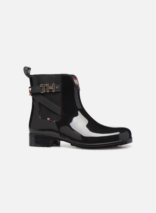 Boots en enkellaarsjes Tommy Hilfiger TH HARDWARE RUBBER BOOTIE Zwart achterkant
