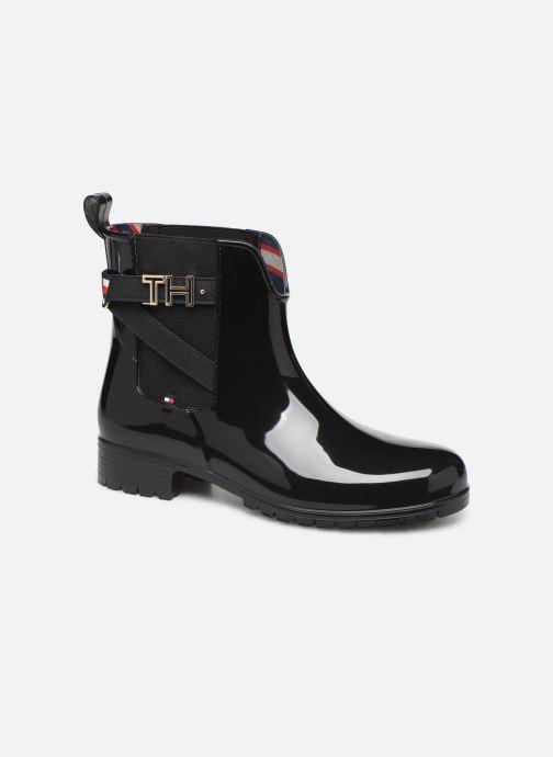 Boots en enkellaarsjes Tommy Hilfiger TH HARDWARE RUBBER BOOTIE Zwart detail