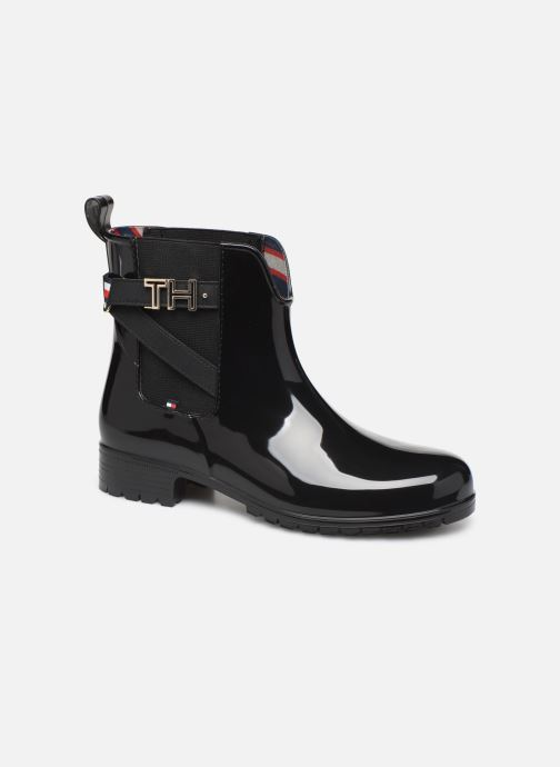 Bottines et boots Tommy Hilfiger TH HARDWARE RUBBER BOOTIE Noir vue détail/paire