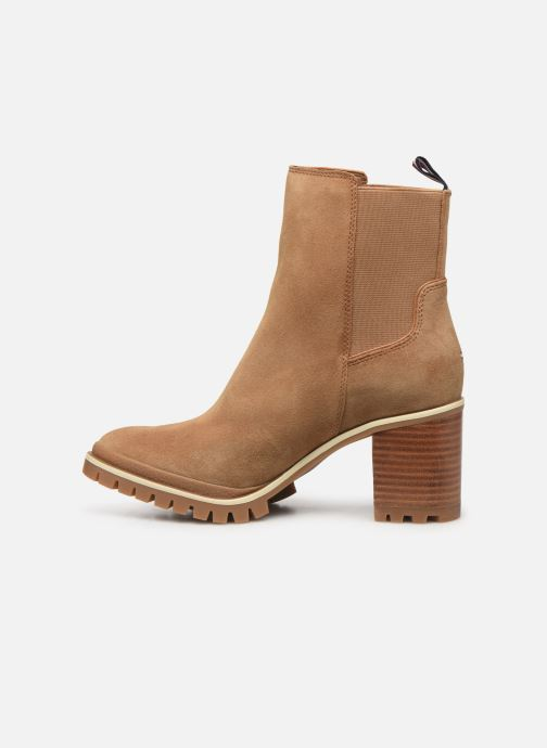 Bottines et boots Tommy Hilfiger SPORTY MID HEEL CHELSEA Marron vue face