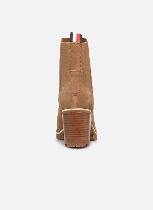Bottines et boots Tommy Hilfiger SPORTY MID HEEL CHELSEA Marron vue droite
