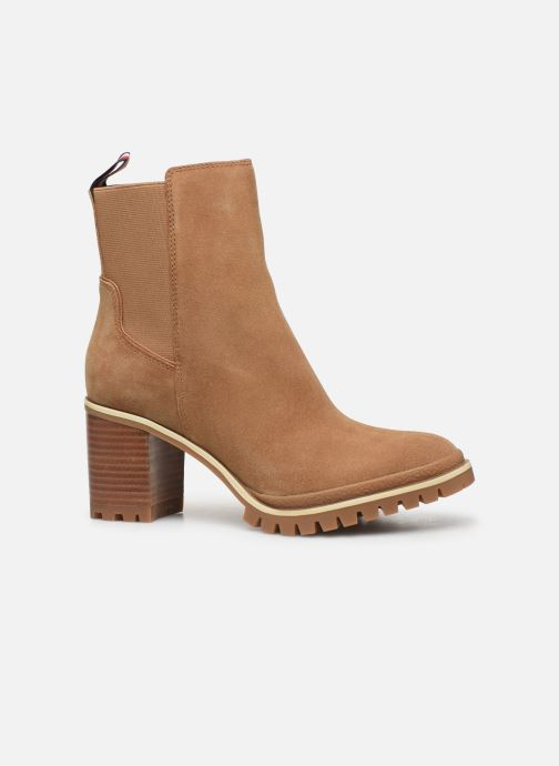 Bottines et boots Tommy Hilfiger SPORTY MID HEEL CHELSEA Marron vue derrière