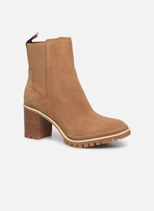 Bottines et boots Tommy Hilfiger SPORTY MID HEEL CHELSEA Marron vue détail/paire