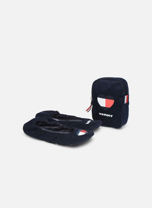 Chaussons Tommy Hilfiger TOMMY HEART TRAVEL PACK Bleu vue 3/4