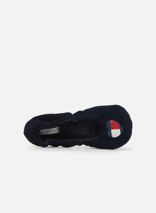 Chaussons Tommy Hilfiger TOMMY HEART TRAVEL PACK Bleu vue gauche