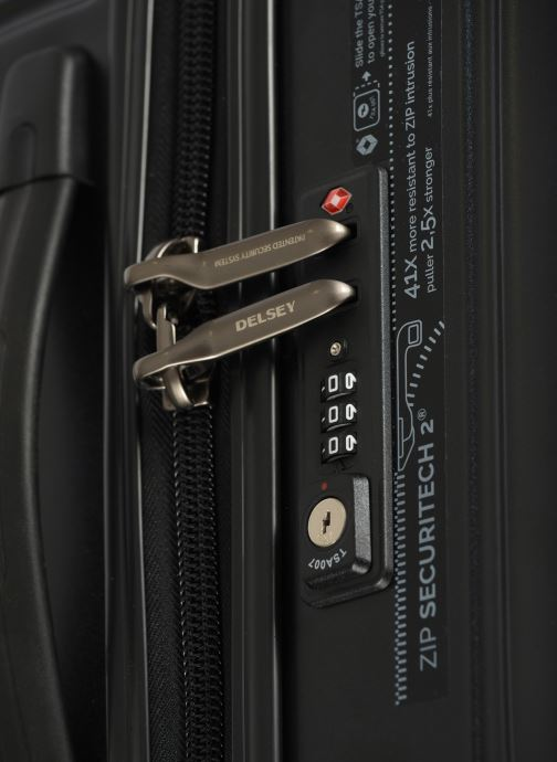Luggage Delsey Caumartin + Val Tr Cab 4Dr 55 Black view from the left