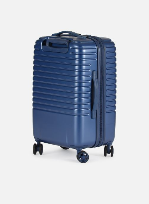 Luggage Delsey Caumartin + Val Tr Cab 4Dr 55 Blue view from the right