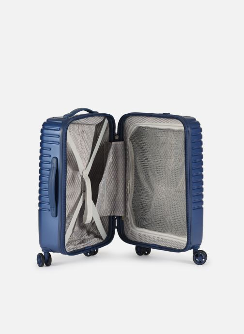 Luggage Delsey Caumartin + Val Tr Cab 4Dr 55 Blue back view