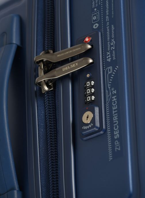 Luggage Delsey Caumartin + Val Tr Cab 4Dr 55 Blue view from the left