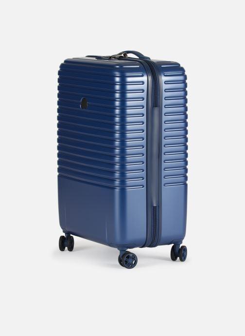 Bagagli Delsey Caumartin + Val Tr 4Dr 66 Azzurro modello indossato