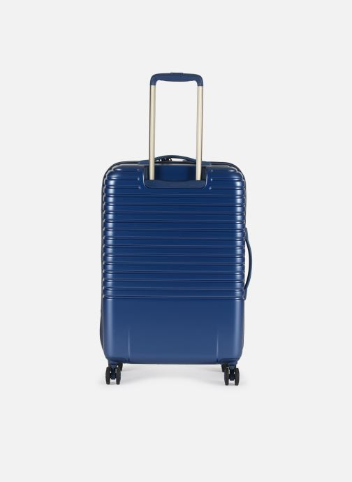 Luggage Delsey Caumartin + Val Tr 4Dr 66 Blue front view