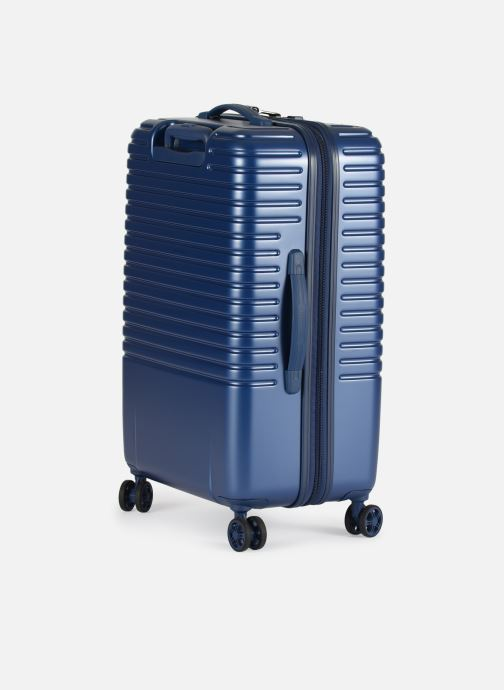 Luggage Delsey Caumartin + Val Tr 4Dr 66 Blue view from the right