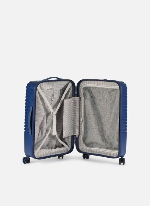 Luggage Delsey Caumartin + Val Tr 4Dr 66 Blue back view