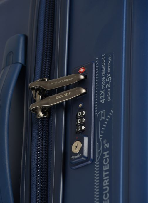 Luggage Delsey Caumartin + Val Tr 4Dr 66 Blue view from the left
