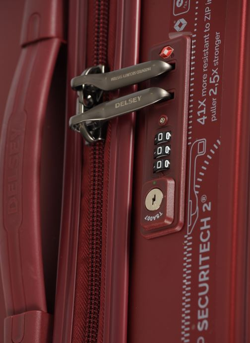 Luggage Delsey Caumartin + Val Tr 4Dr 66 Burgundy view from the left