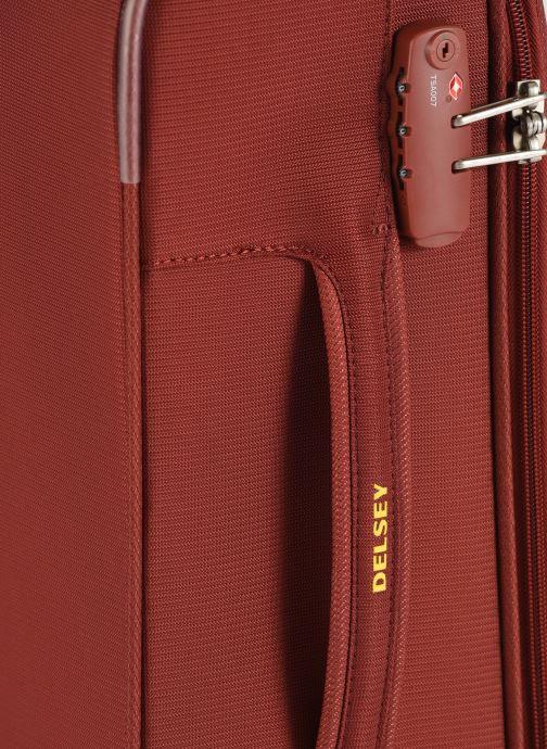 Bagages Delsey Chartreuse Valise Tr Slim 4R 55 Rouge vue gauche