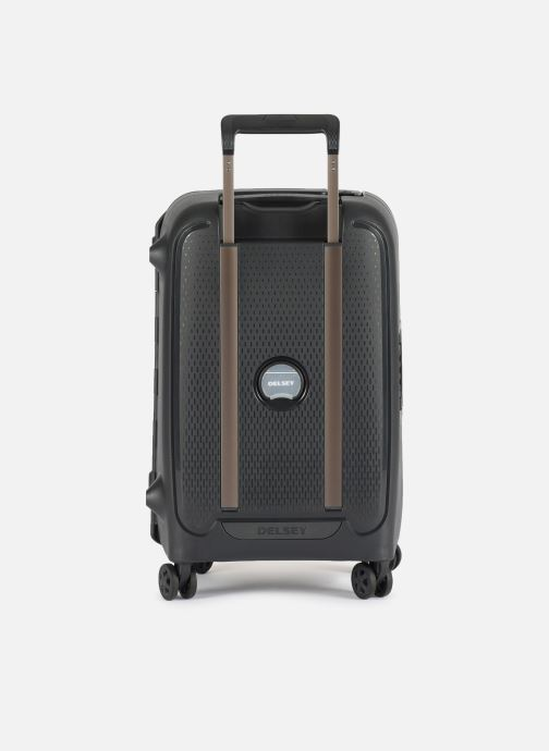 Luggage Delsey Moncey Val Tr Cab 4Dr 55 Black front view