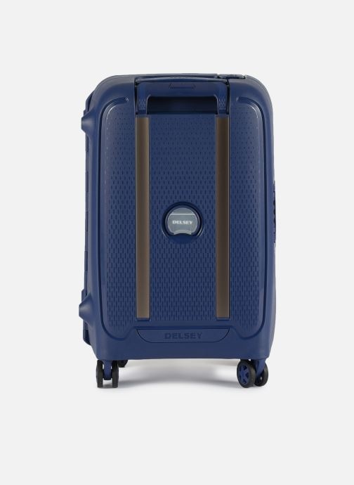 Luggage Delsey Moncey Val Tr Cab 4Dr 55 Blue front view