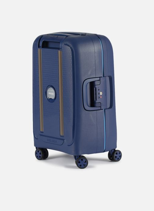 Luggage Delsey Moncey Val Tr Cab 4Dr 55 Blue view from the right
