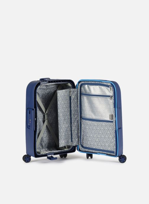 Luggage Delsey Moncey Val Tr Cab 4Dr 55 Blue back view