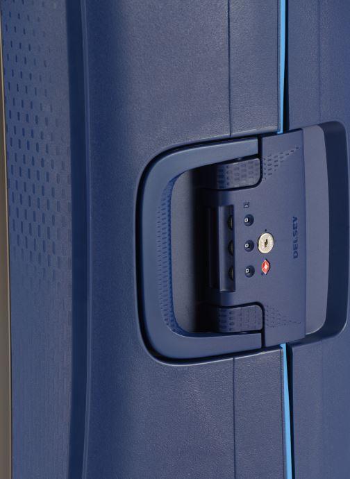 Bagages Delsey Moncey Val Tr Cab 4Dr 55 Bleu vue gauche