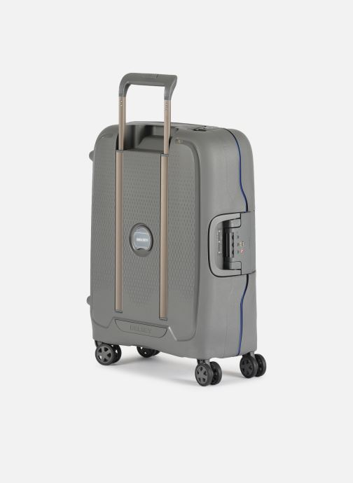 Luggage Delsey Moncey Val Tr Cab 4Dr 55 Grey view from the right