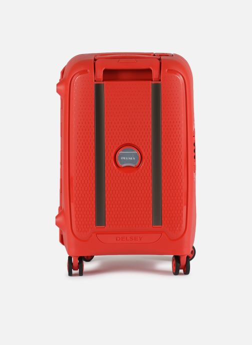 Luggage Delsey Moncey Val Tr Cab 4Dr 55 Red front view