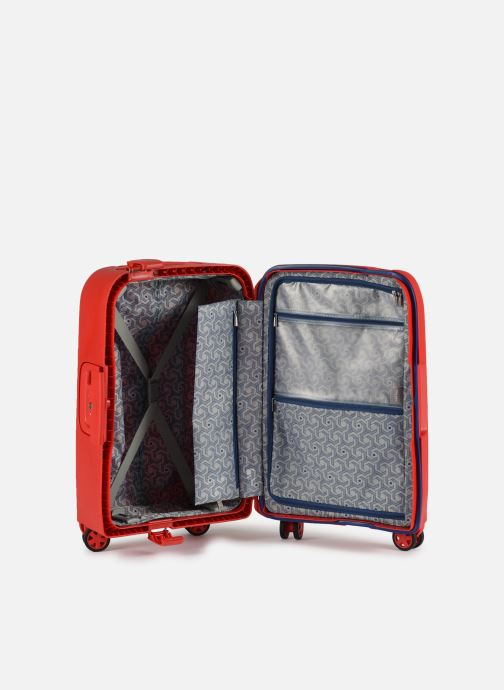 Luggage Delsey Moncey Val Tr Cab 4Dr 55 Red back view